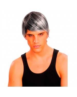 Parrucca Argento per Uomo