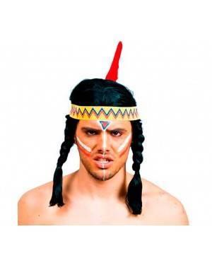 Parrucca Indiano con Trecce