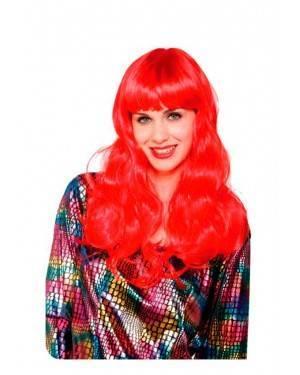 Parrucca Liscia Lunga Rossa Fluo