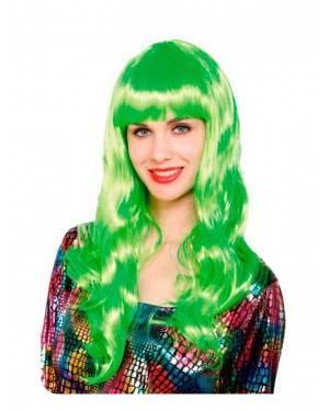 Parrucca Liscia Lunga Verde Fluo