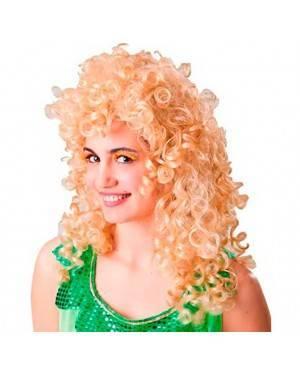 Parrucca Lunga Riccia Bionda per Carnevale