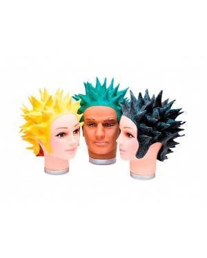Parrucca Super Saiyan Nera di Latice Per Adulti