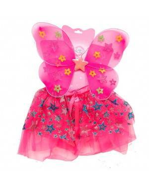 Set Accessori Farfalla Rosa (Ali, Gonna)