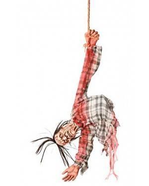 Zombie d'appenddere con Movimento e Suoni. 10x35x80 cm