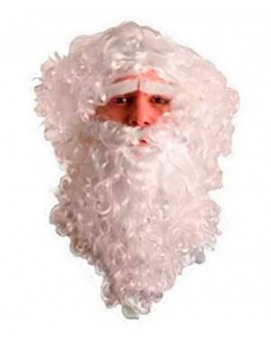 Barba Babbo Natale con baffi e sopracciglia per Carnevale