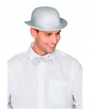 Cappello Bombetta Argento per Carnevale