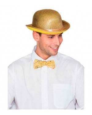 Cappello Bombetta Oro per Carnevale