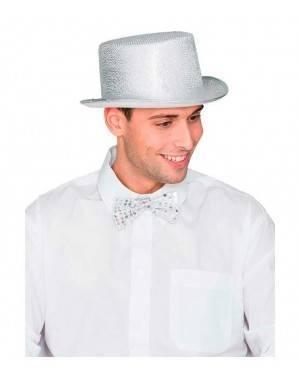 Cappello Cilindro Argento per Carnevale