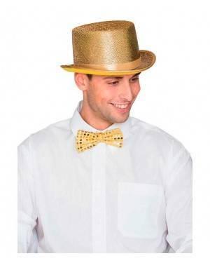 Cappello Cilindro Oro per Carnevale