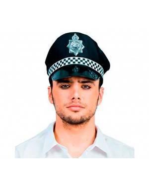 Cappello Poliziotto in Tessuto Per Adulti