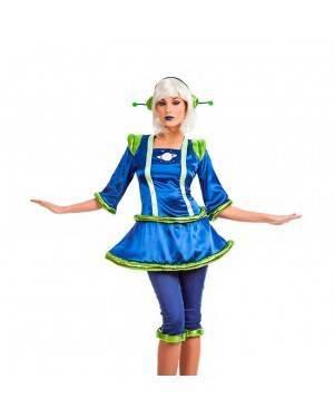 Costume Alieno Blu Donna Taglia M-L per Carnevale
