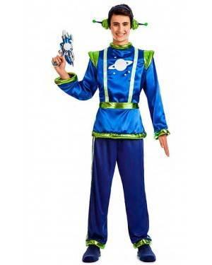 Costume Alieno Blu Taglia M-L per Carnevale