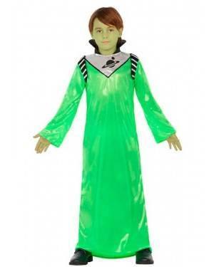 Costume Alieno Verde 3-4 Anni per Carnevale