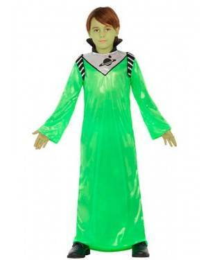 Costume Alieno Verde 7-9 Anni per Carnevale