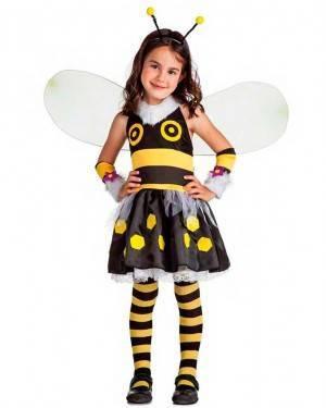 Costume Ape Lady Bee Taglia 10-12 Anni per Carnevale