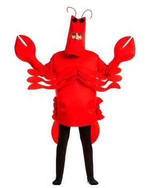 Costume Aragosta Taglia M-L per Carnevale
