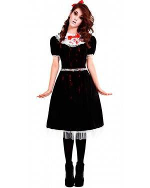 Costume Bambola Gotica Taglia M-L per Carnevale