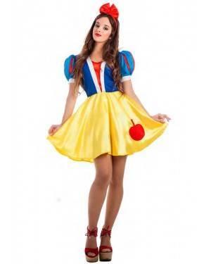 Costume Biancaneve Sexy Taglia M-L per Carnevale