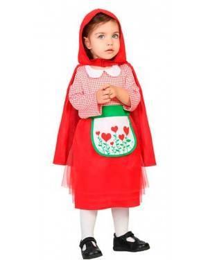 Costume Cappuccetto Rosso 6-12 Mesi per Carnevale