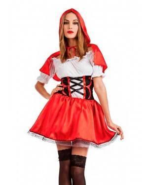 Costume Cappuccetto Rosso Favola Taglia M-L per Carnevale