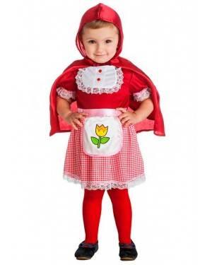 Costume Cappuccetto Rosso Taglia 0-6 Mesi per Carnevale
