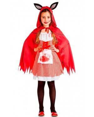 Costume Cappuccetto Rosso Zombie Taglia 10-12 per Carnevale