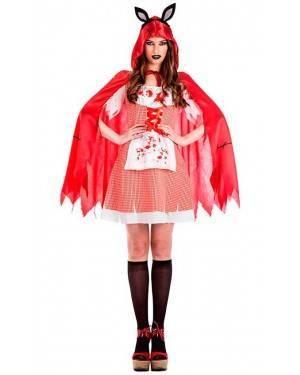 Costume Cappuccetto Rosso Zombie Taglia M/L per Carnevale