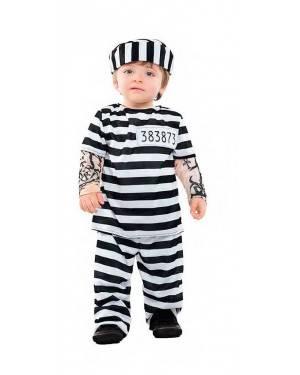 Costume Carcerato Tattoo Taglia 0-6 Mesi per Carnevale