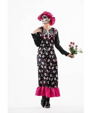 Costume Catrina Donna Taglia M/L per Carnevale | La Casa di Carnevale