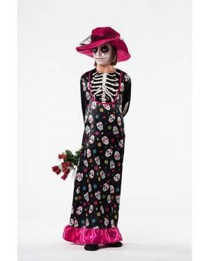 Costume Catrina Taglia 9 a 11 Anni per Carnevale | La Casa di Carnevale