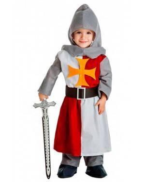Costume Cavaliere Crociato Medievale Taglia 1-2 per Carnevale