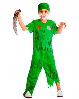 Costume Chirurgo Zombie Taglia 7-9 Anni per Carnevale