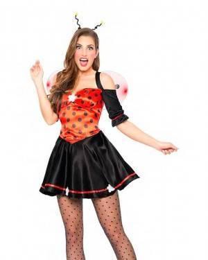 Costume Coccinella con Ali Taglia M-L per Carnevale