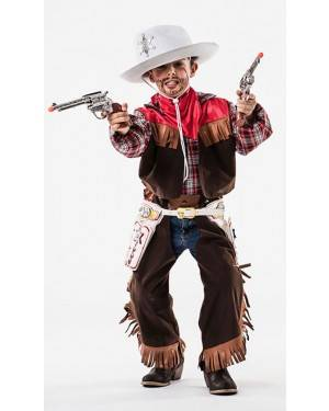 Costume Cowboy Taglia 5 a 7 Anni per Carnevale | La Casa di Carnevale