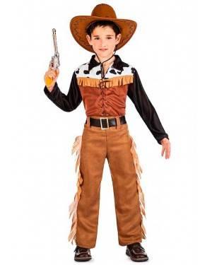 Costume Cowboy Texas Taglia 10-12 Anni per Carnevale