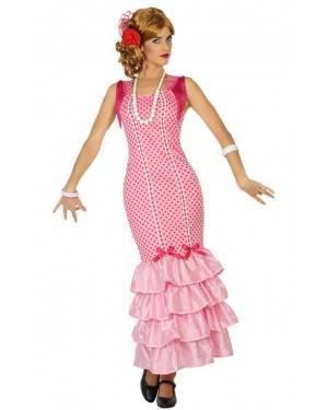 Costume Ballerina di Flamenco Rosa Adulto