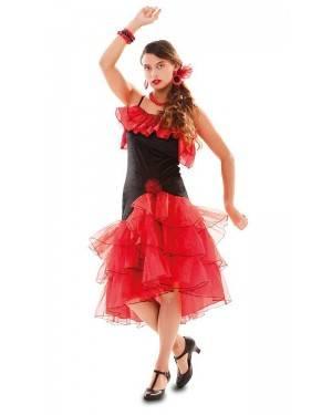 Costume Ballerina di Flamenco Rosso Adulto