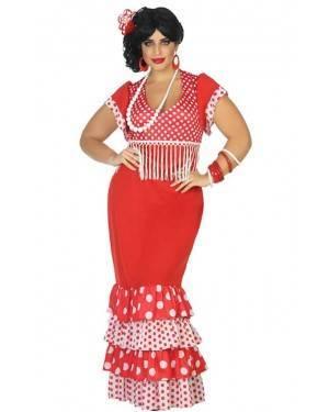 Costume Ballerina di Flamenco Rosso Adulto XL