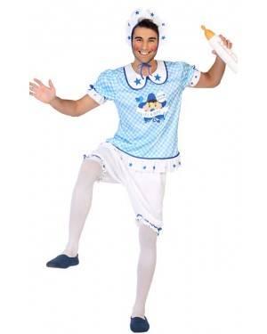 Costume da Bebè Azzurro Uomo per Carnevale | La Casa di Carnevale