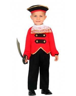 Costume da Capitano Pirata 12-24 Mesi per Carnevale