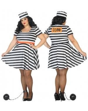 Costume da Carcerata Adulta XXL per Carnevale | La Casa di Carnevale