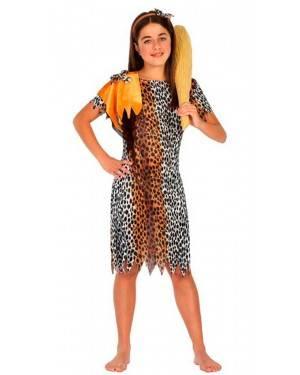 Costume da Cavernicola Bambina 7-9 Anni per Carnevale