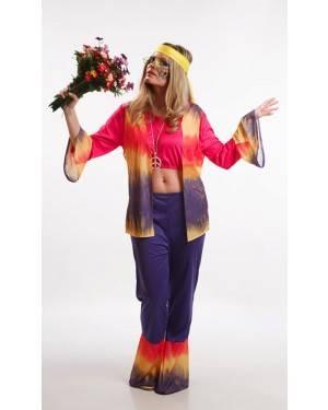 Costume da Donna Hippy Adulta M per Carnevale | La Casa di Carnevale