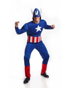 Costume da Eroe Americano adulto M/L per Carnevale | La Casa di Carnevale