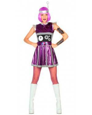 Costume da Robot Donna XL per Carnevale