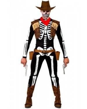 Costume da Scheletro Cowboy Uomo