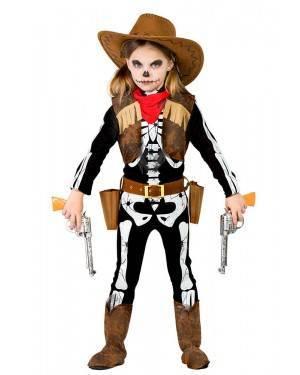 Costume da Scheletro Cowgirl Bimba