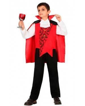Costume da Vampiro Rosso 3-4 Anni per Carnevale