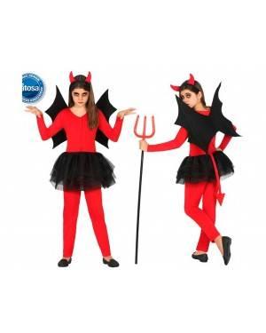 Costume Demonietta Alata 10-12 Anni