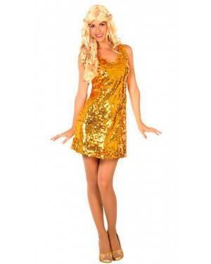 Costume Disco Dorato XL per Carnevale